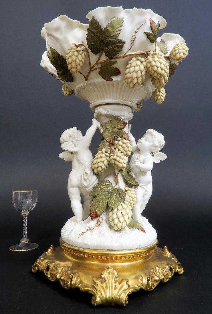 19th C. English Porcelain Figural Centerpiece