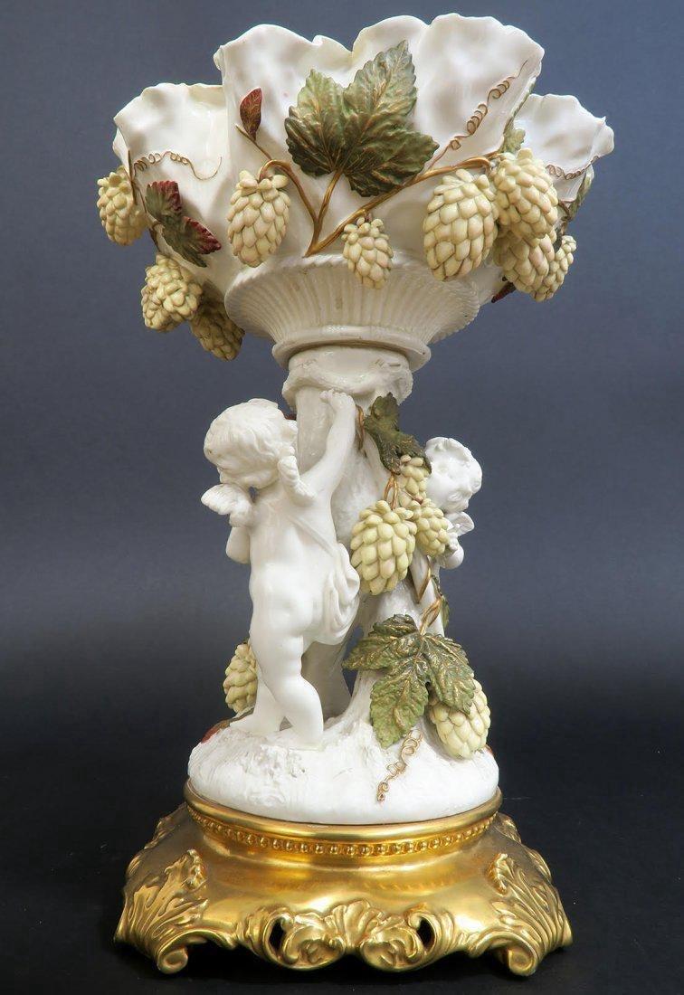 19th C. English Porcelain Figural Centerpiece - 3