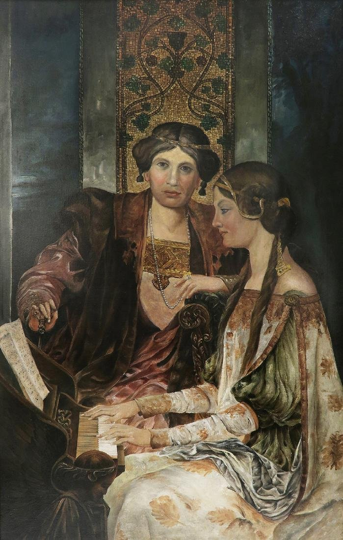 Large 19th C. Continental Oil on Canvas - 2