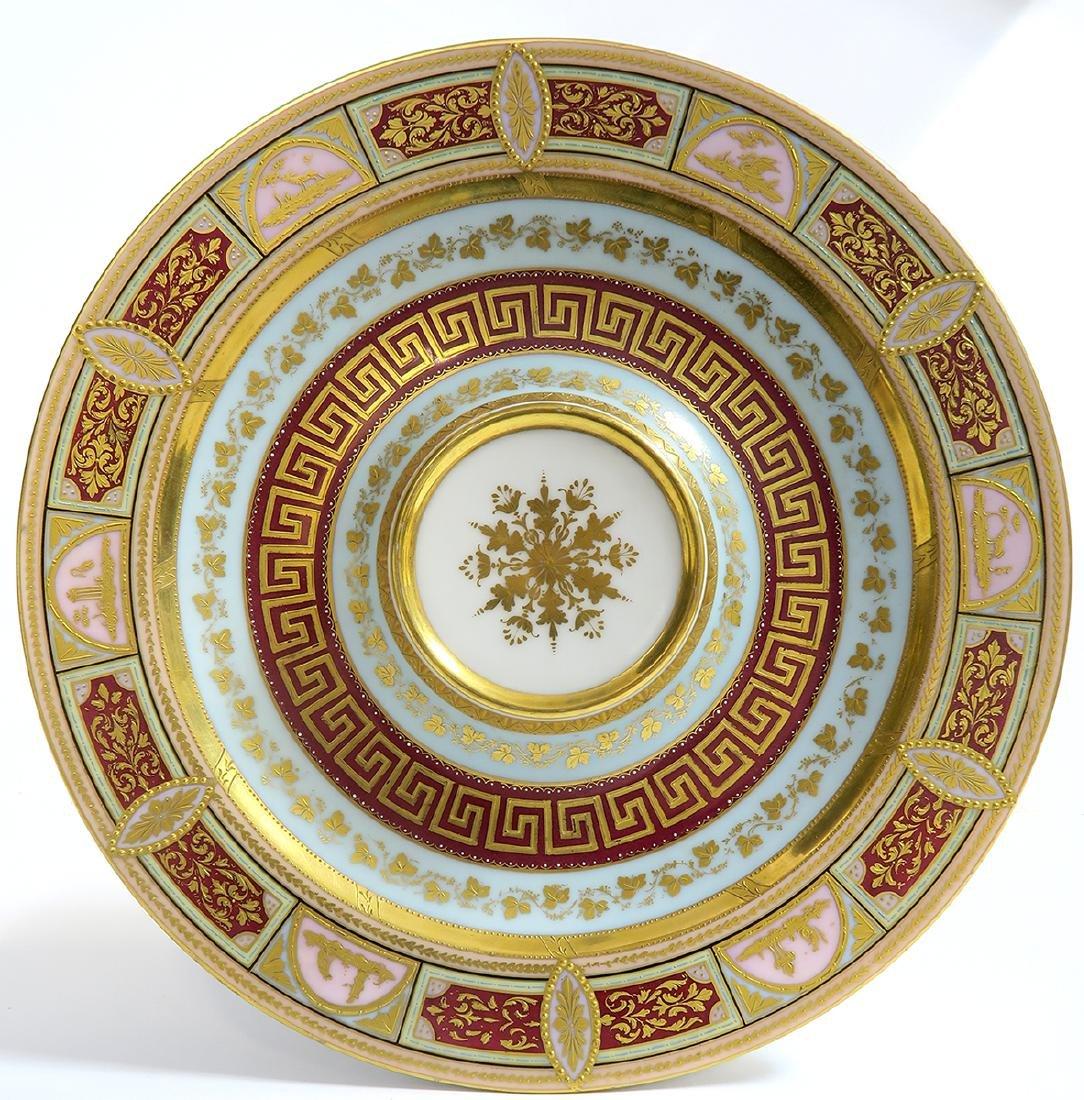 19th C. Royal Vienna Austrian Porcelain Vase On Plate - 5
