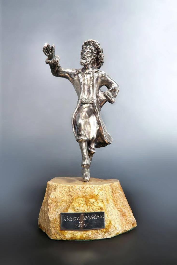 Sterling Silver Figurine of a Rabbi