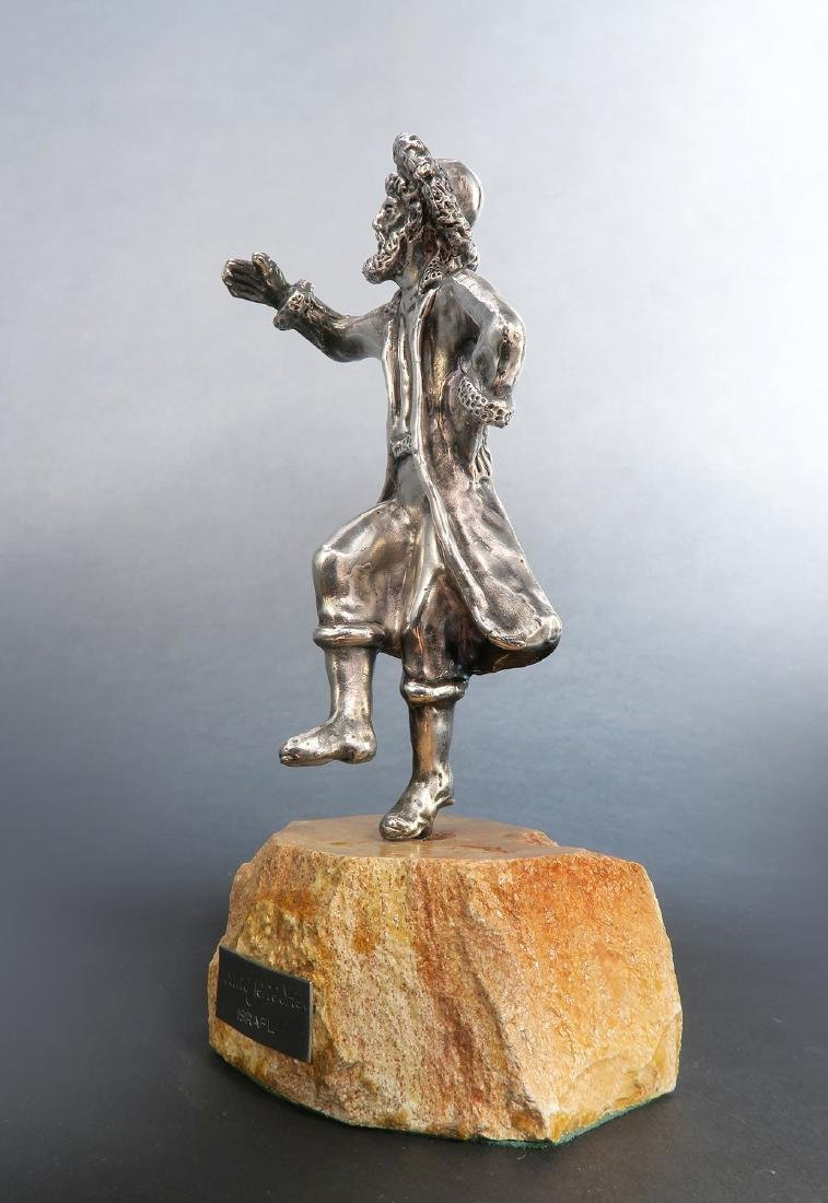Sterling Silver Figurine of a Rabbi - 2