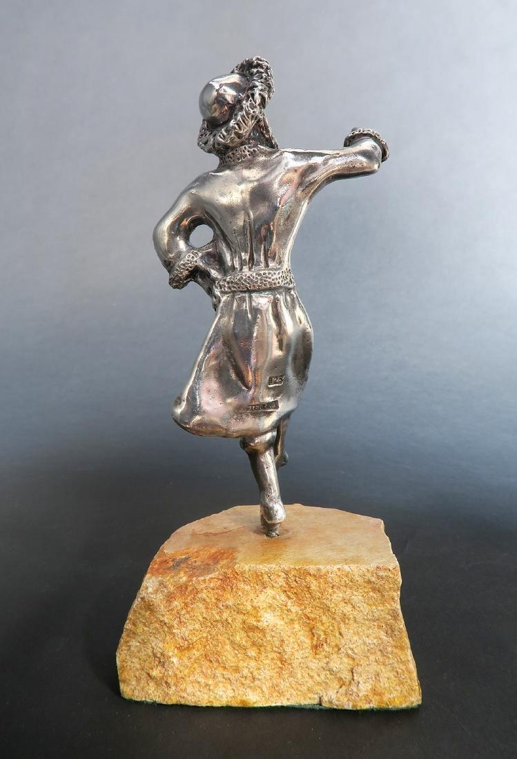 Sterling Silver Figurine of a Rabbi - 3