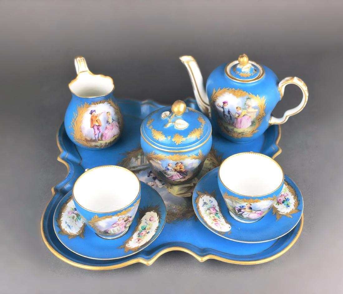 "A French Sevres Porcelain ""tete a tete"" Coffee/Tea set - 2"