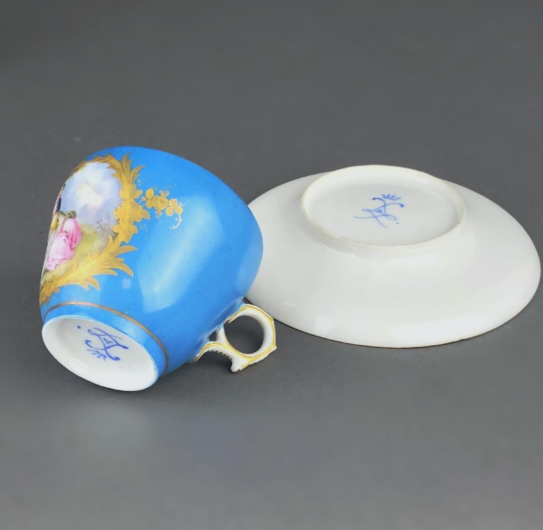 "A French Sevres Porcelain ""tete a tete"" Coffee/Tea set - 3"