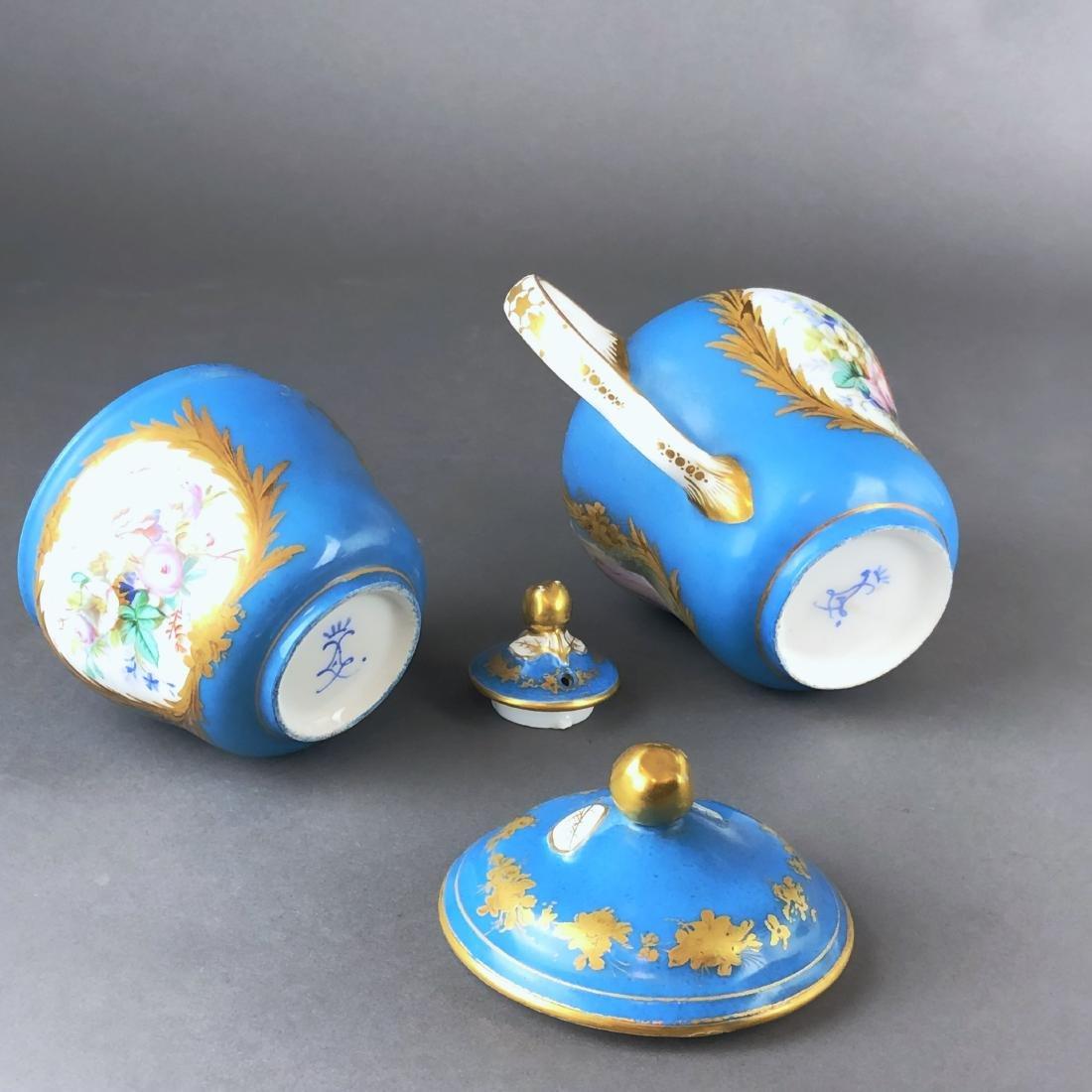 "A French Sevres Porcelain ""tete a tete"" Coffee/Tea set - 4"