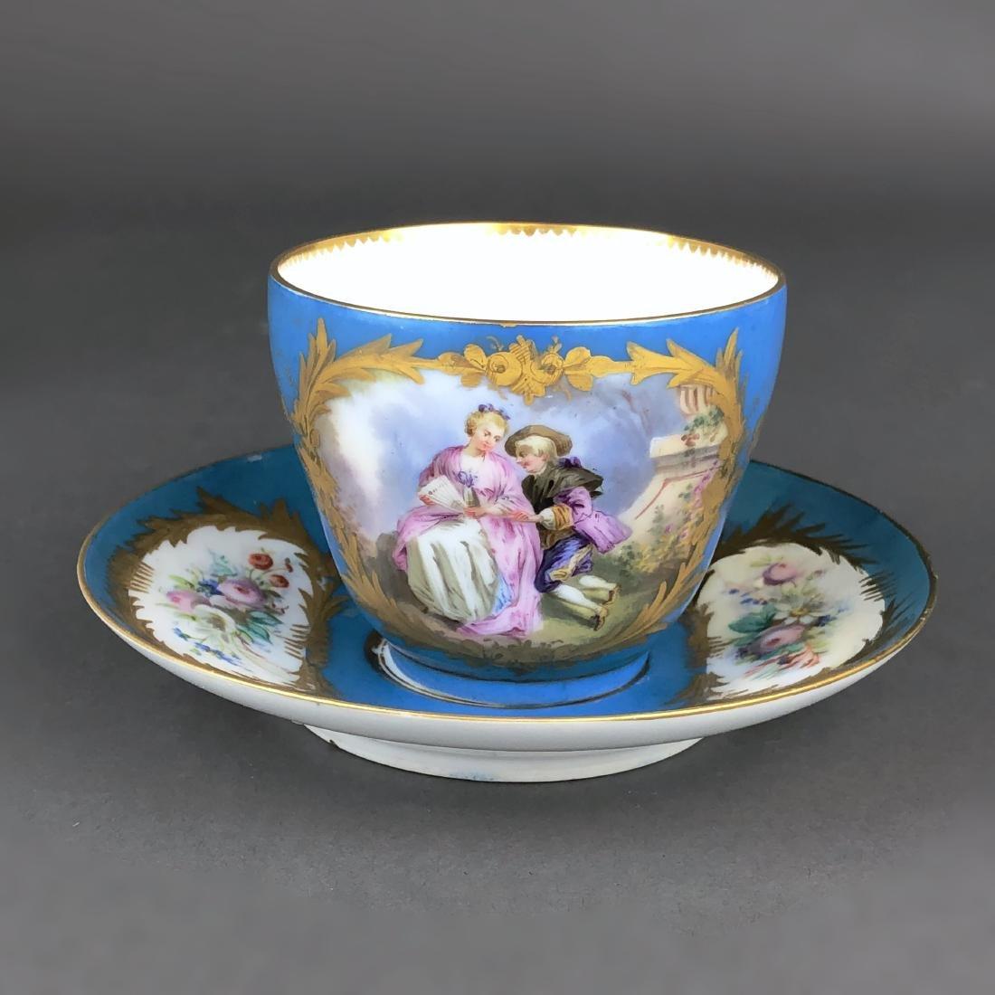 "A French Sevres Porcelain ""tete a tete"" Coffee/Tea set - 5"