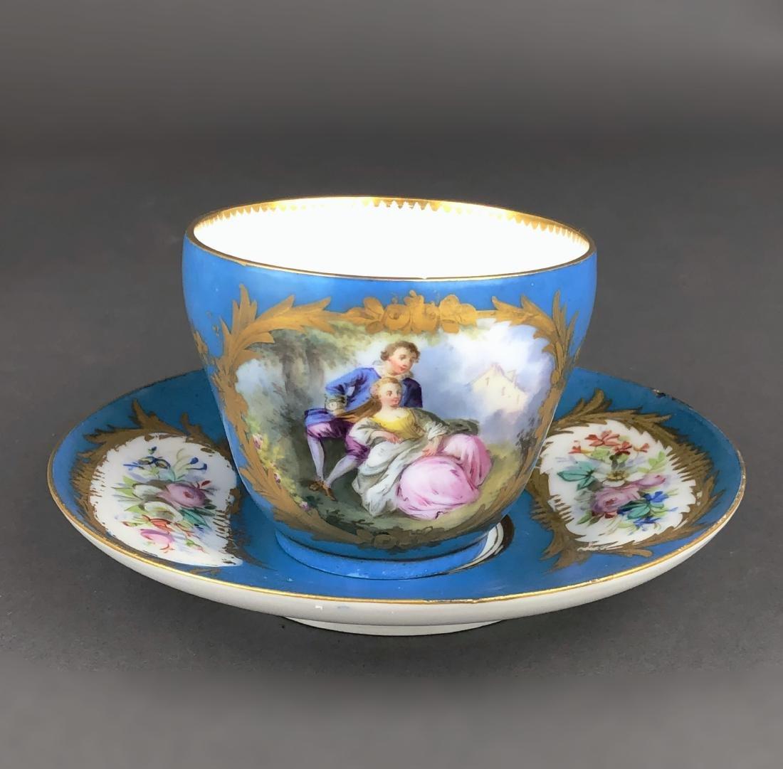 "A French Sevres Porcelain ""tete a tete"" Coffee/Tea set - 6"