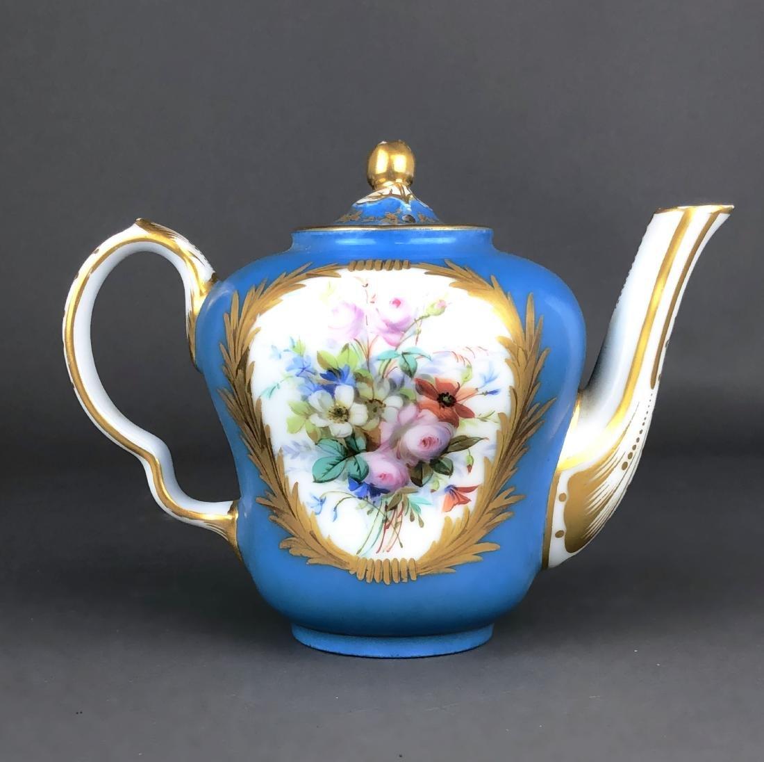"A French Sevres Porcelain ""tete a tete"" Coffee/Tea set - 7"
