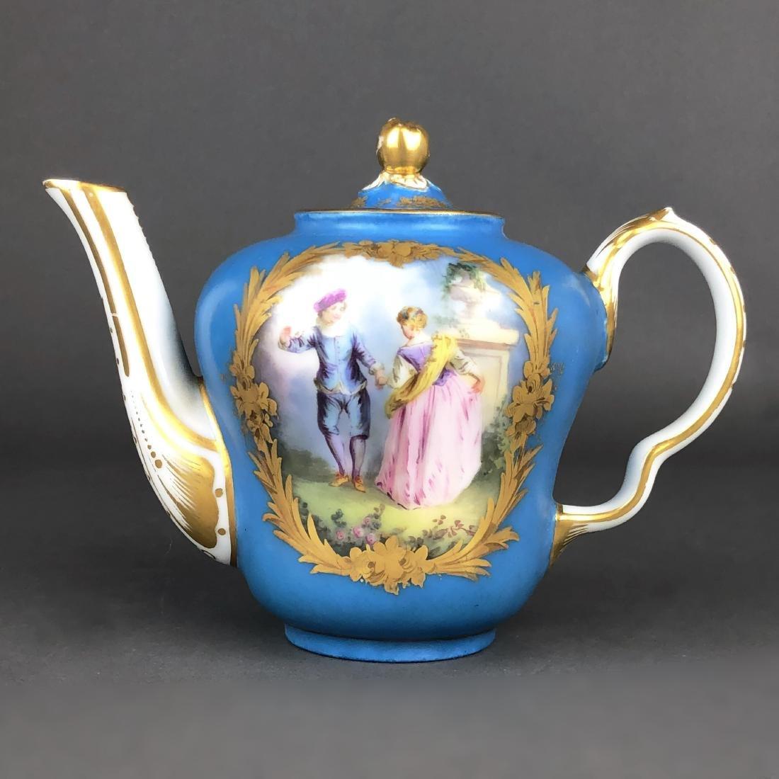 "A French Sevres Porcelain ""tete a tete"" Coffee/Tea set - 8"