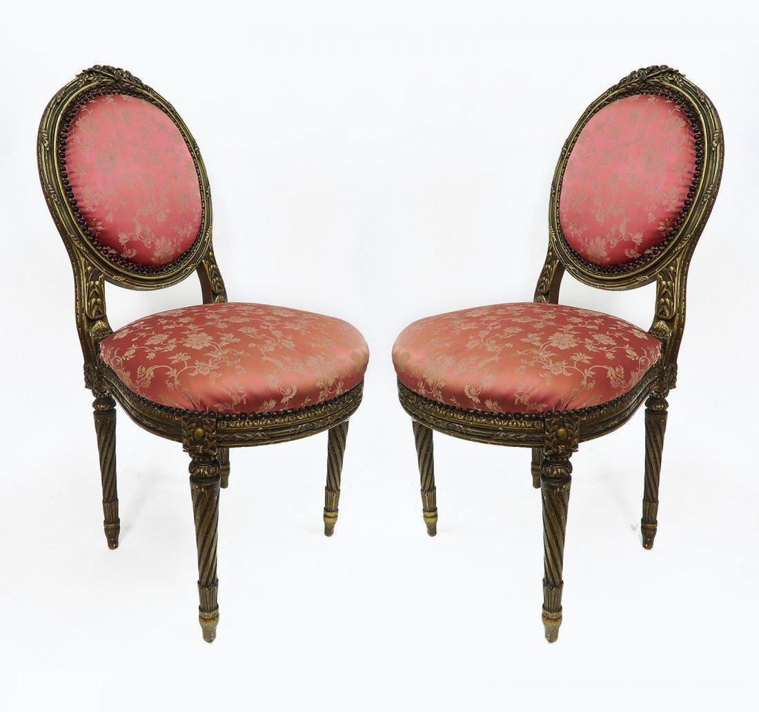 19th C. Pair of French Chairs
