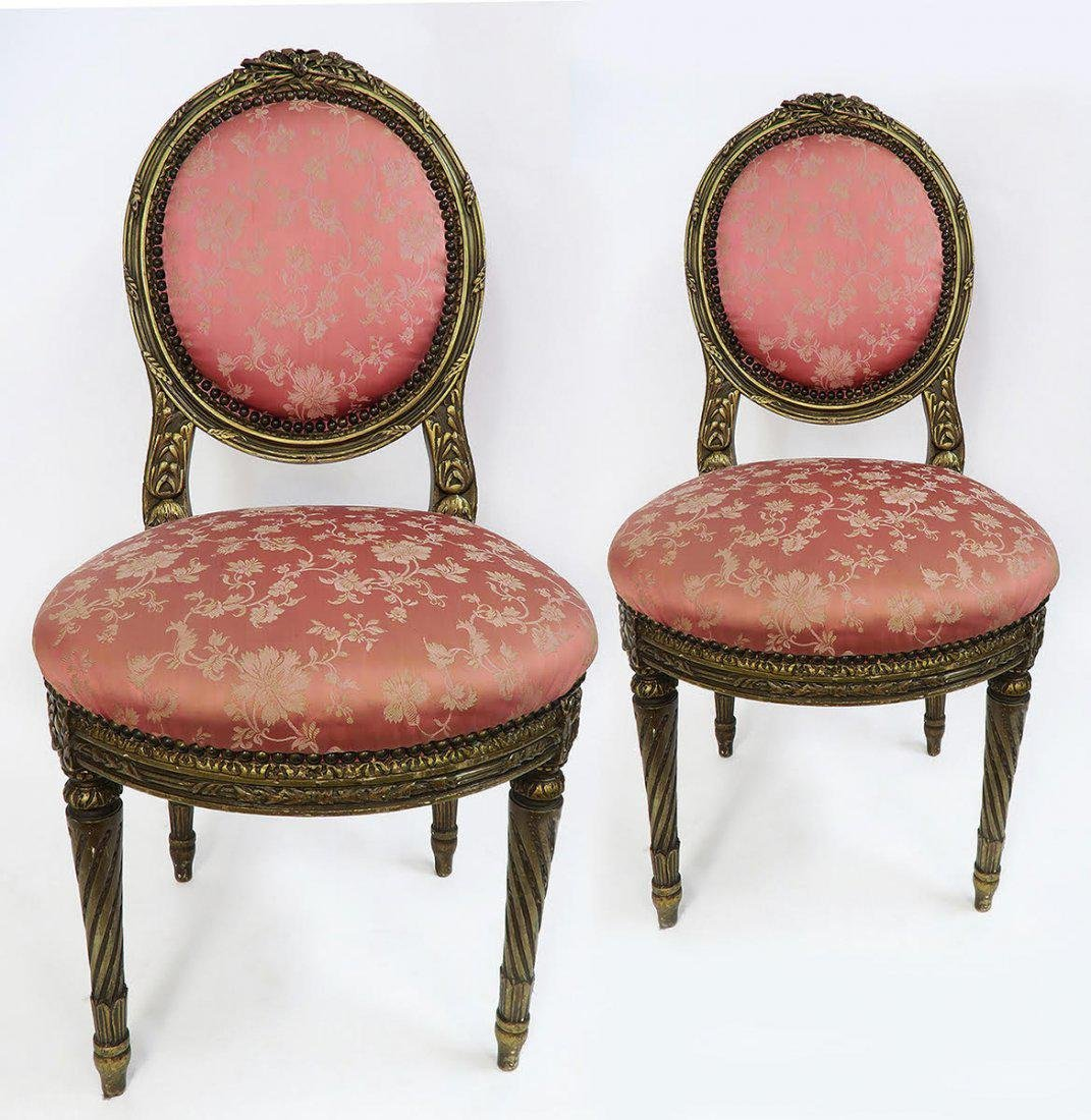 19th C. Pair of French Chairs - 2
