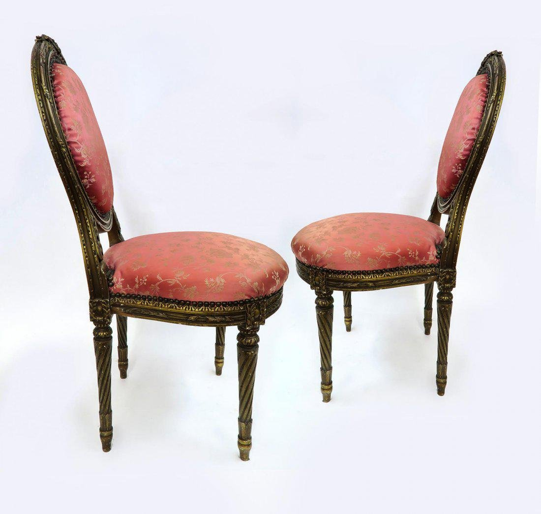 19th C. Pair of French Chairs - 3