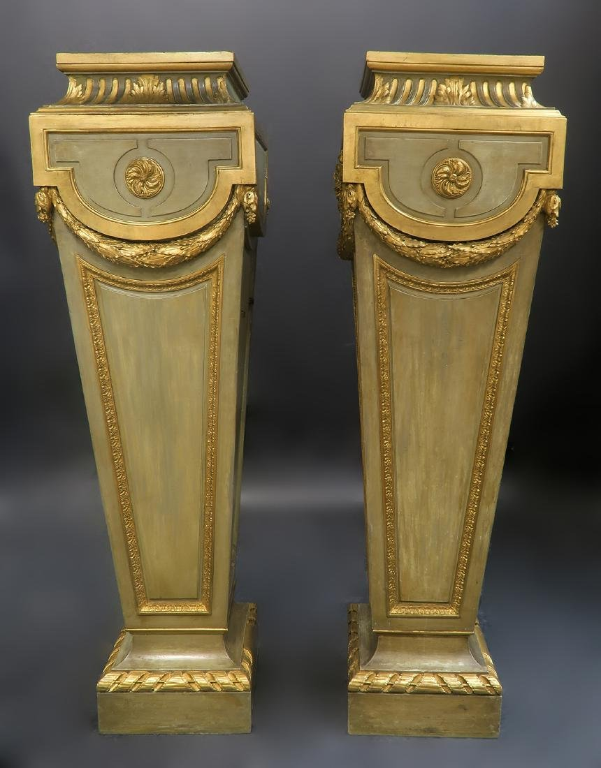 Very Fine Pair of French Louis XVI Style Pedestals - 3
