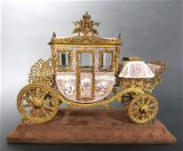 Large Museum Quality Viennese/Austrian Enamel Carriage