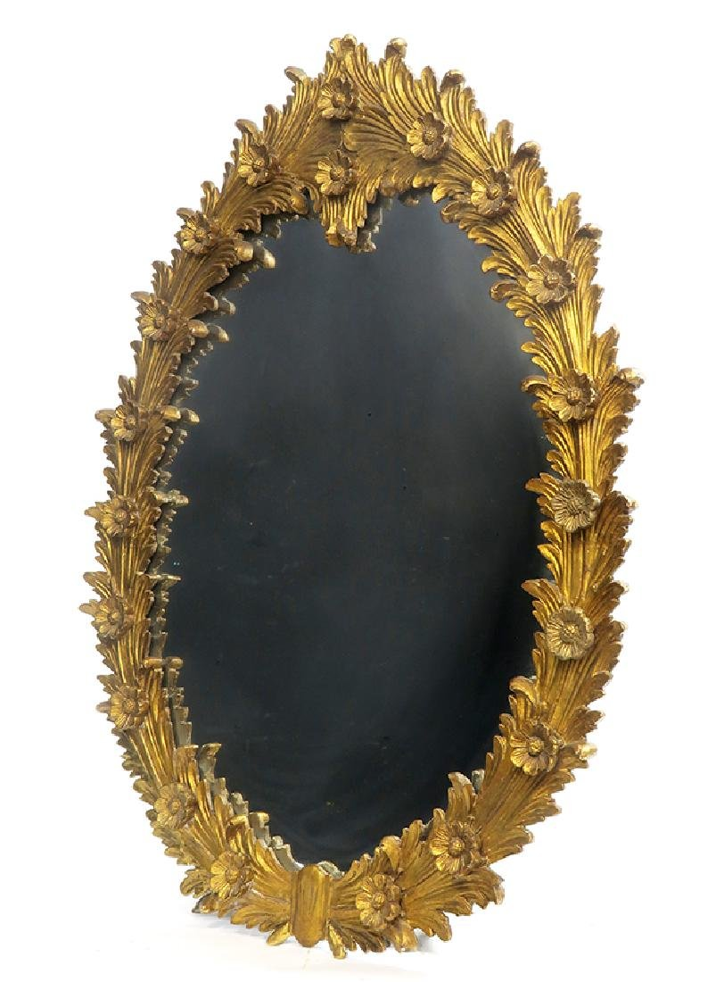 19th C. Gilt-wood Carved Mirror - 2