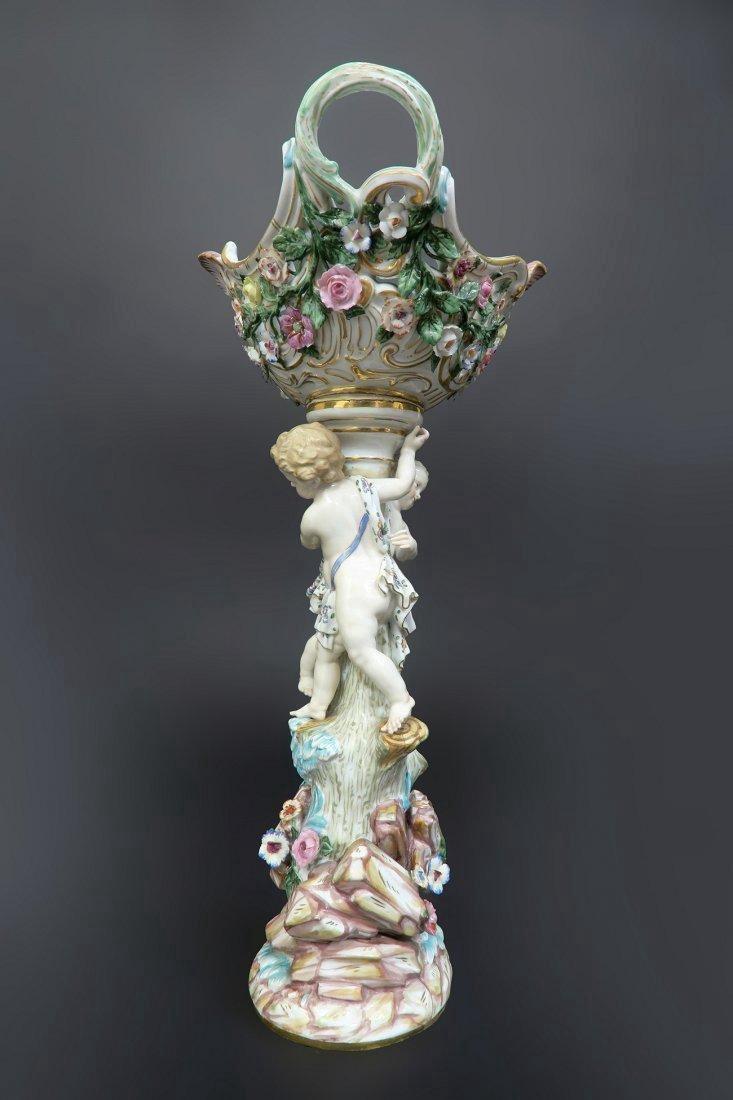 Meissen Porcelain Figural Centerpiece - 2