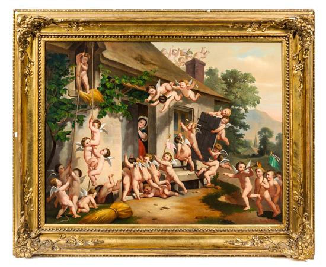 """Eduard Torok """"Meeting of the Angels"""" Painting"""