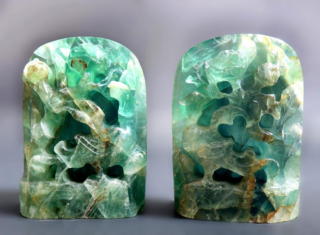 """A Pair of 17000 Carats Emerald Bookend """"GIA"""" ID Report"""