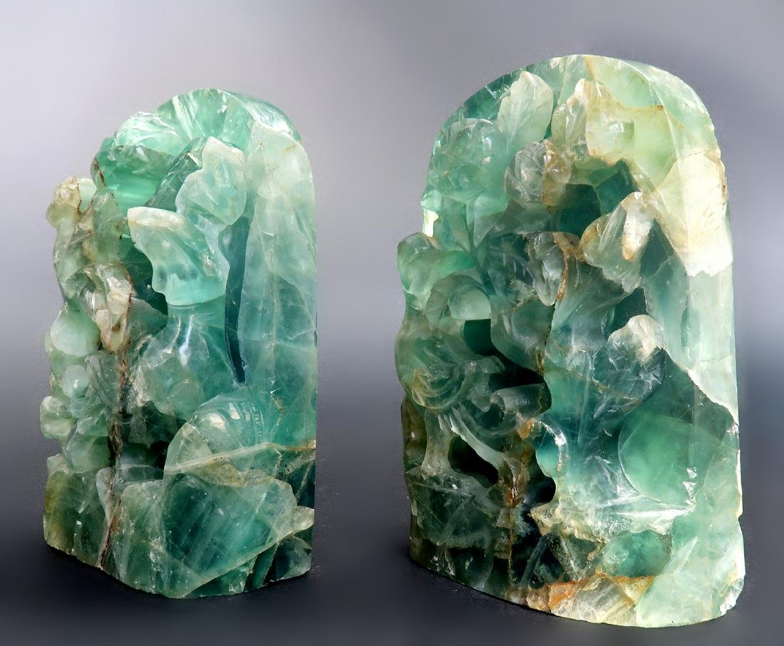 """A Pair of 17000 Carats Emerald Bookend """"GIA"""" ID Report - 4"""