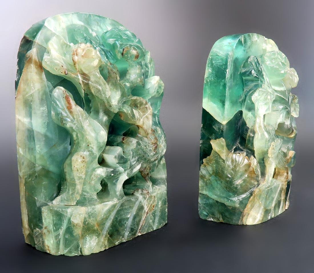 """A Pair of 17000 Carats Emerald Bookend """"GIA"""" ID Report - 5"""