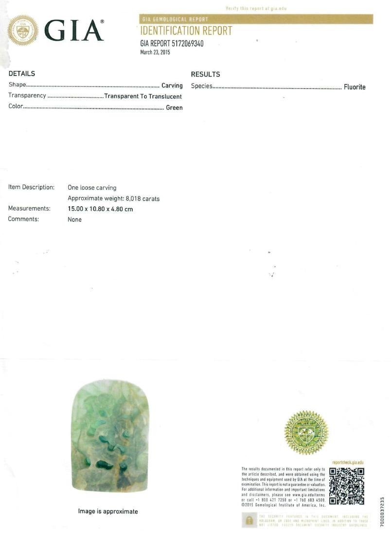 """A Pair of 17000 Carats Emerald Bookend """"GIA"""" ID Report - 7"""