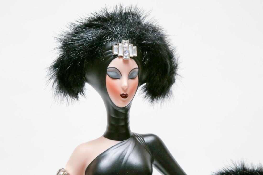 "Franklin Heirloom Doll 20"" A Symphony in Black By ERTE - 2"