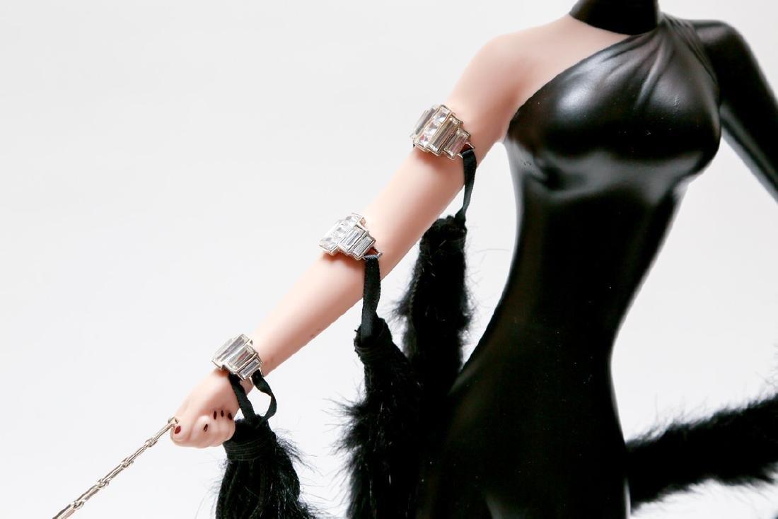 "Franklin Heirloom Doll 20"" A Symphony in Black By ERTE - 5"