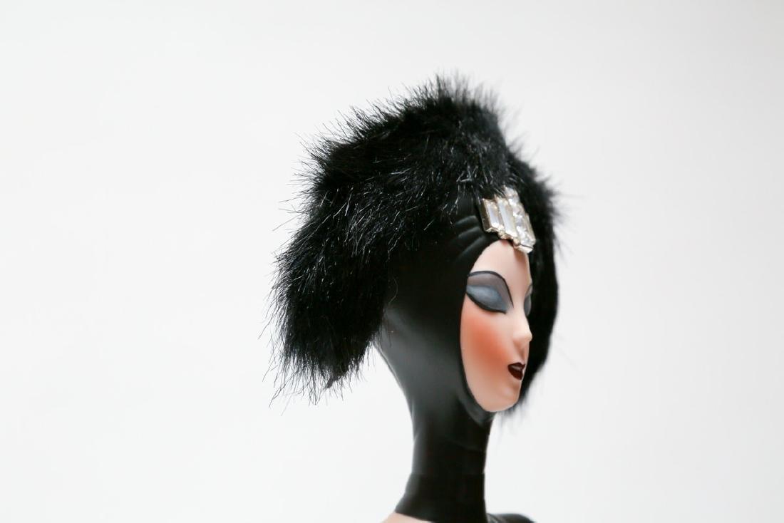 "Franklin Heirloom Doll 20"" A Symphony in Black By ERTE - 8"