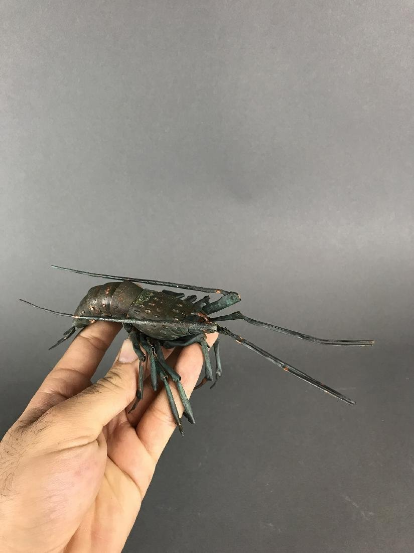 A Japanese Articulated Copper Model of Crab, Signed! - 2
