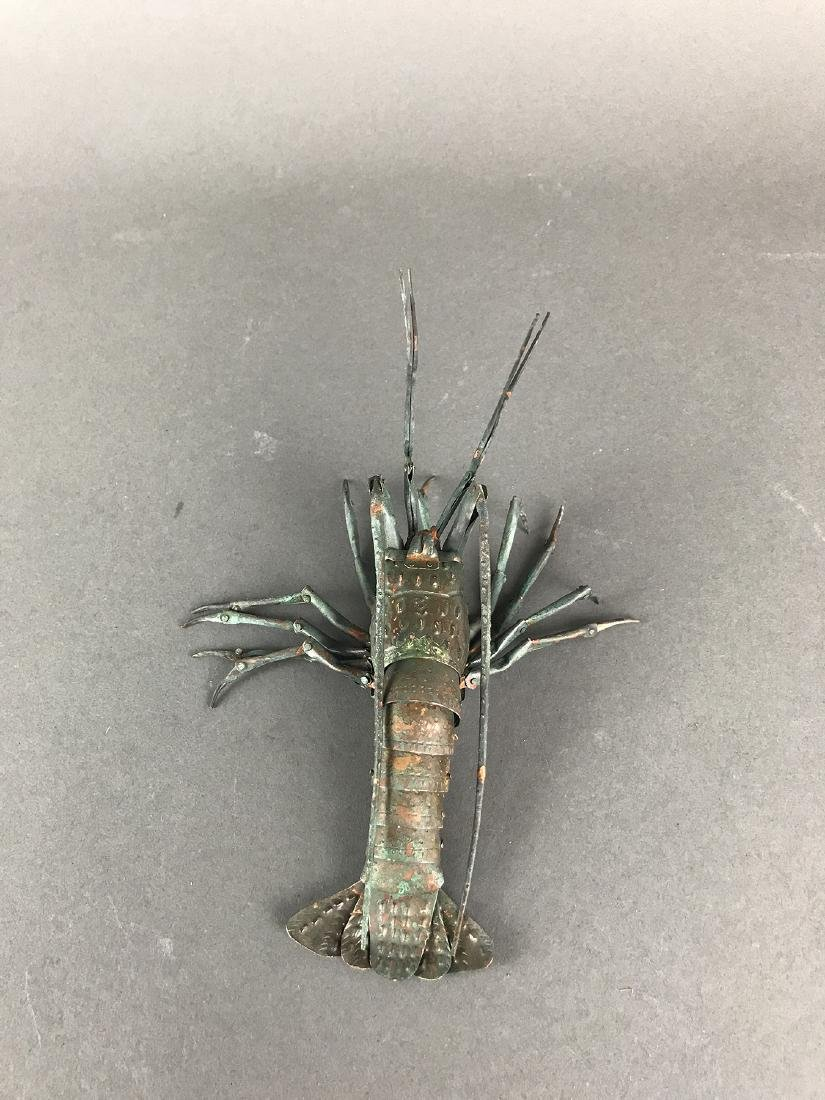 A Japanese Articulated Copper Model of Crab, Signed! - 3