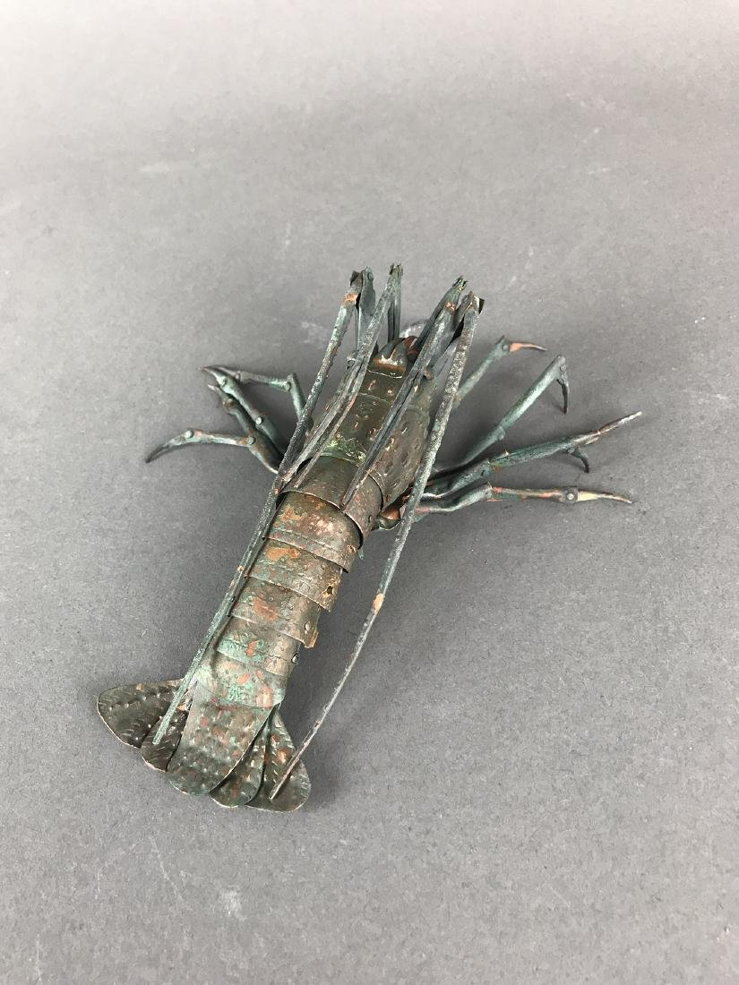 A Japanese Articulated Copper Model of Crab, Signed! - 5