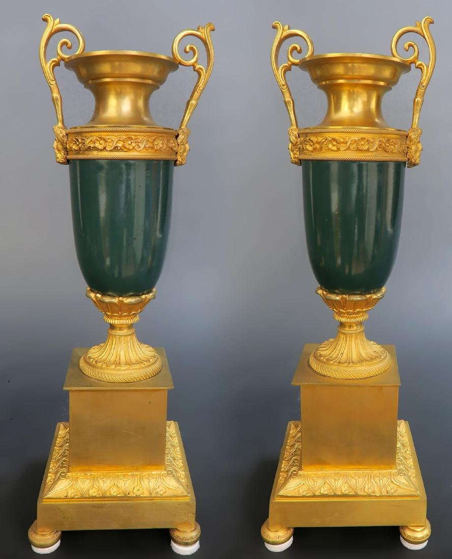 19th C French Sevres Clock Set - 10