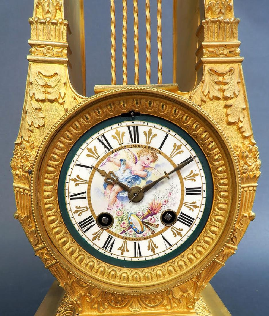 19th C French Sevres Clock Set - 3