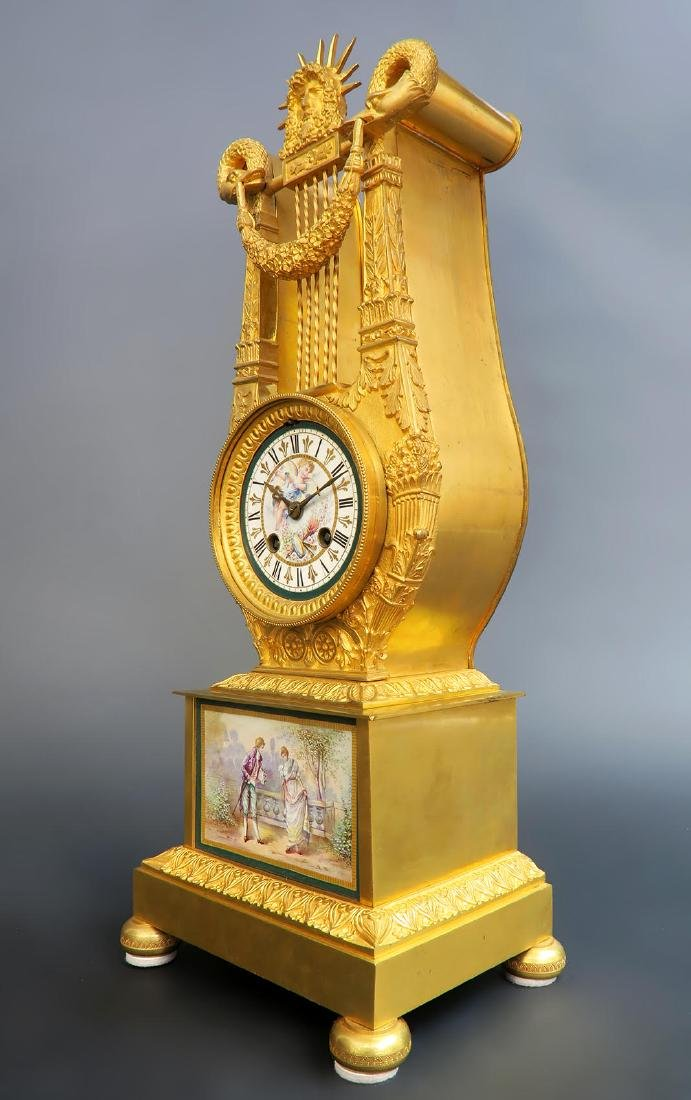 19th C French Sevres Clock Set - 6