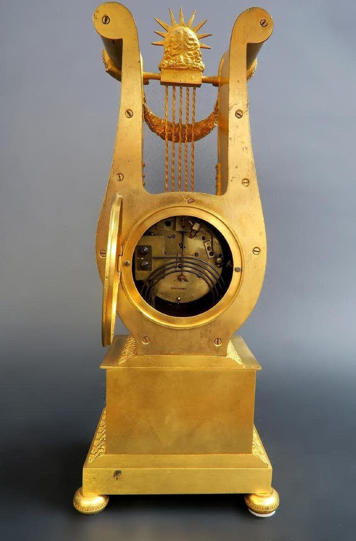 19th C French Sevres Clock Set - 8