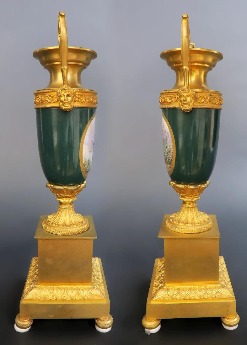 19th C French Sevres Clock Set - 9