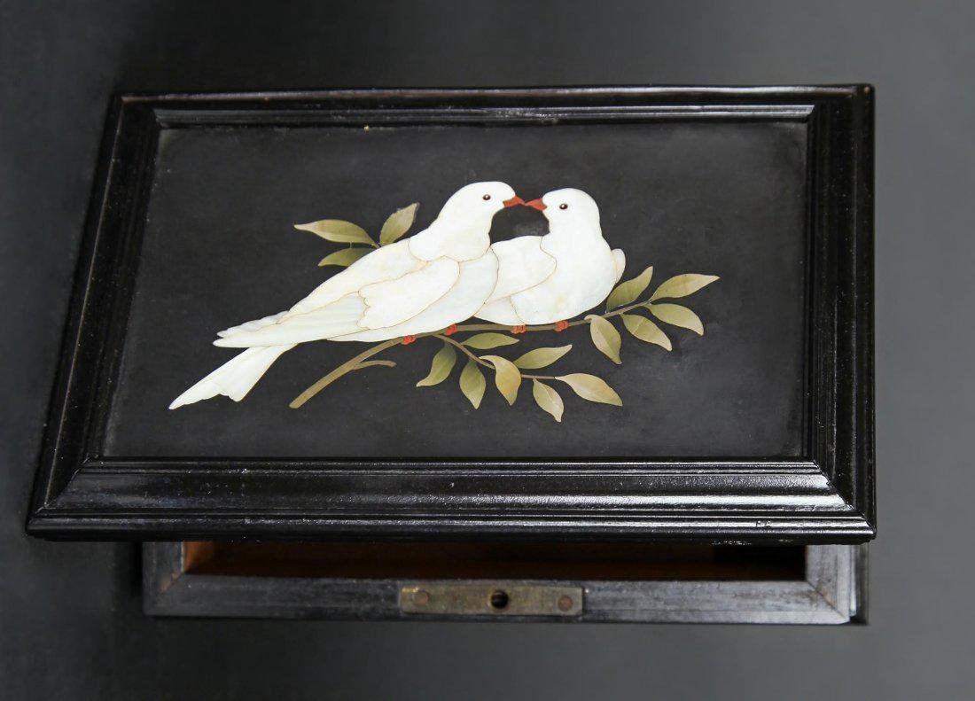 "Italian Pietra Dura ""Two Doves On a Branch"" - 2"
