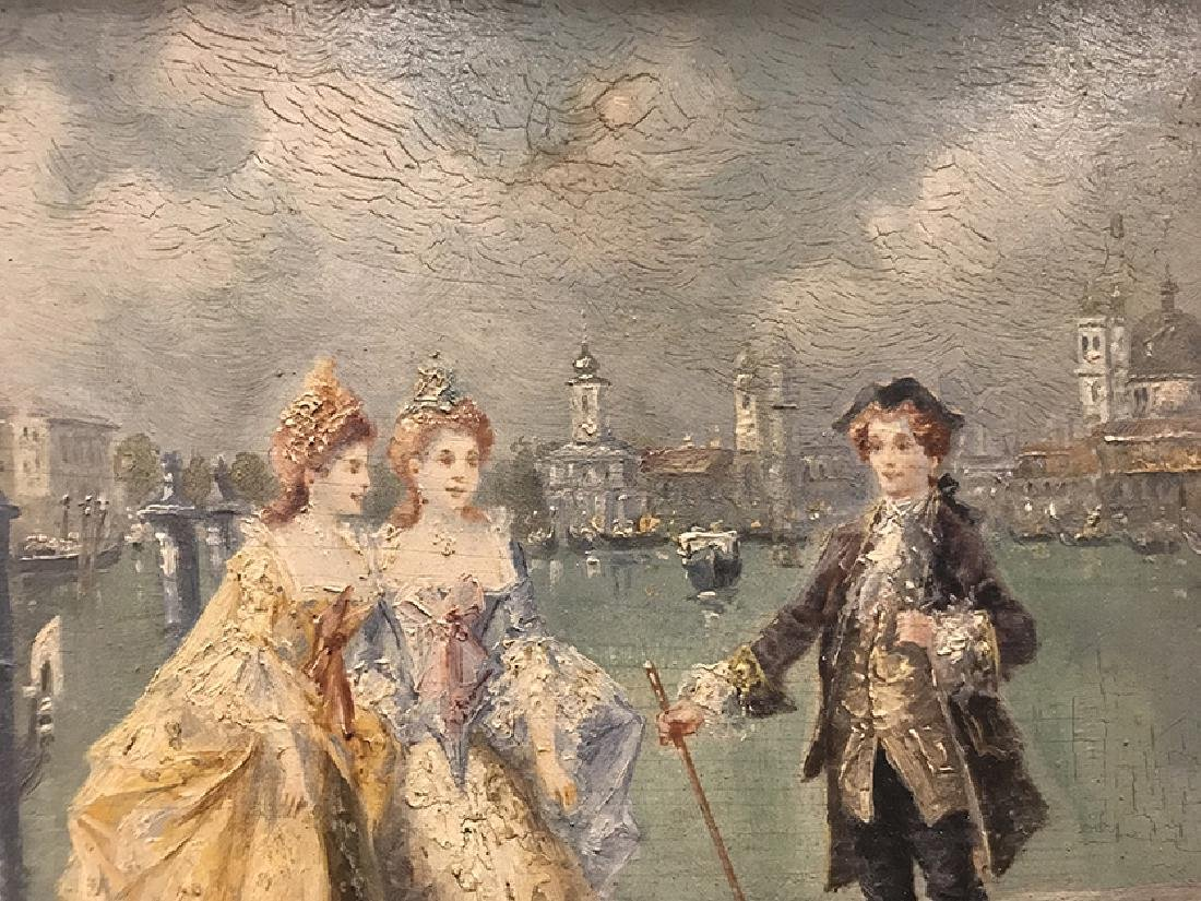 """19th C. French Oil on Board signed """"L. Durios"""" - 2"""