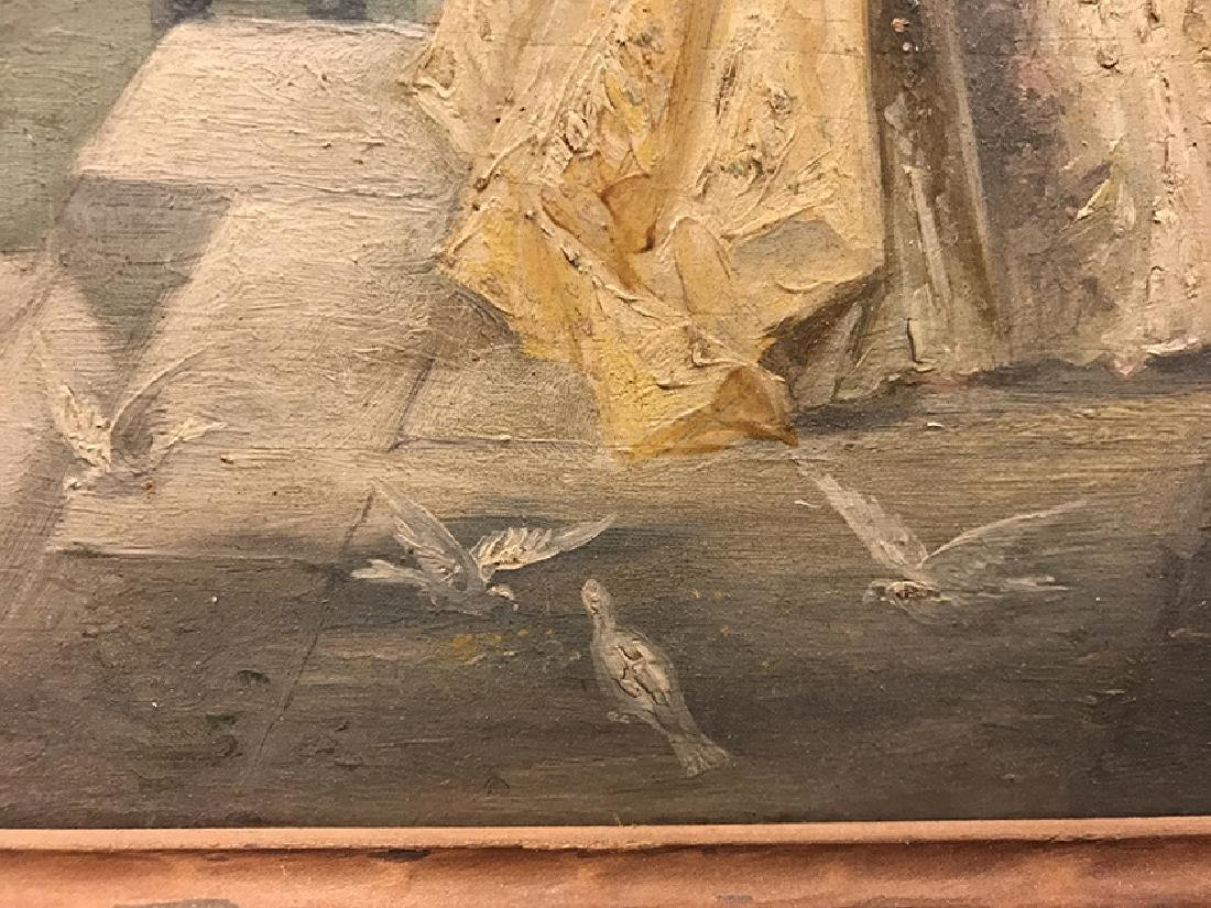 """19th C. French Oil on Board signed """"L. Durios"""" - 4"""