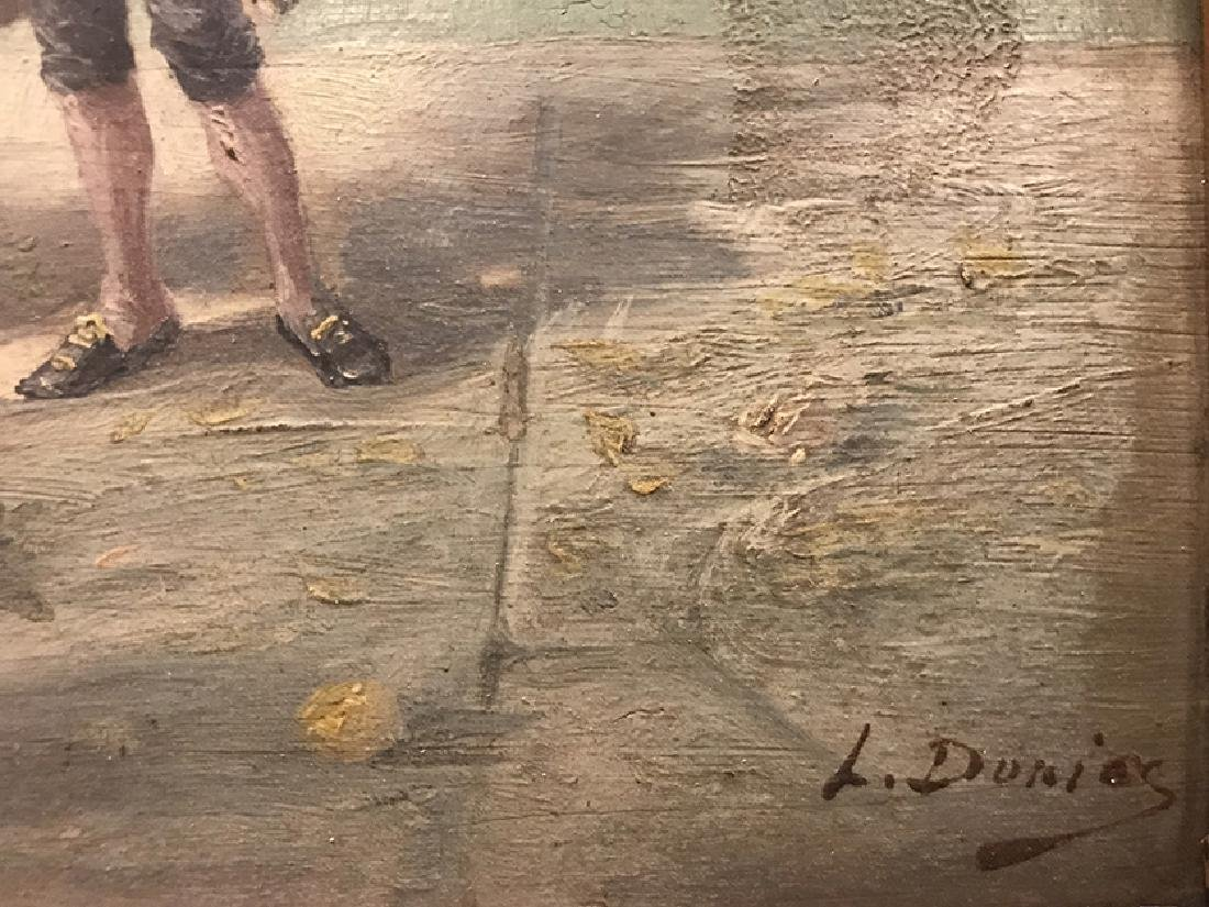 """19th C. French Oil on Board signed """"L. Durios"""" - 5"""