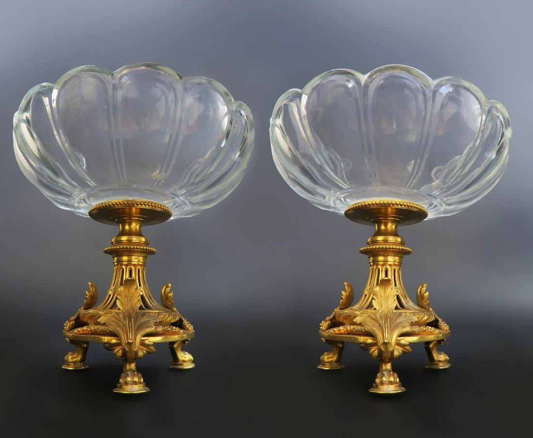Pair of French 19th C. Christofle Tazza/Compotes - 3