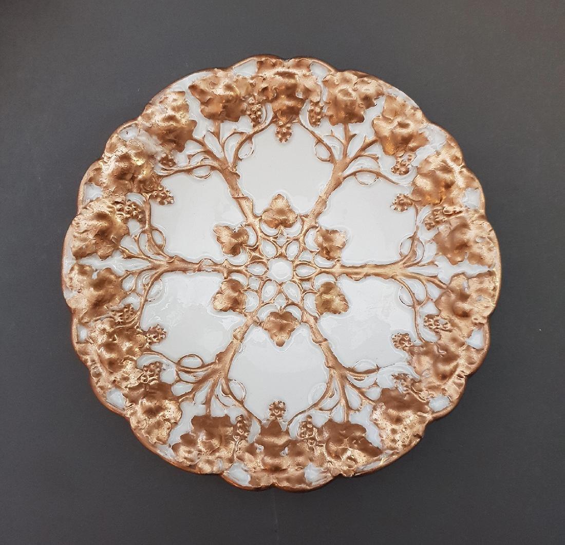 19th Century German Meissen Gilt Porcelain Plate