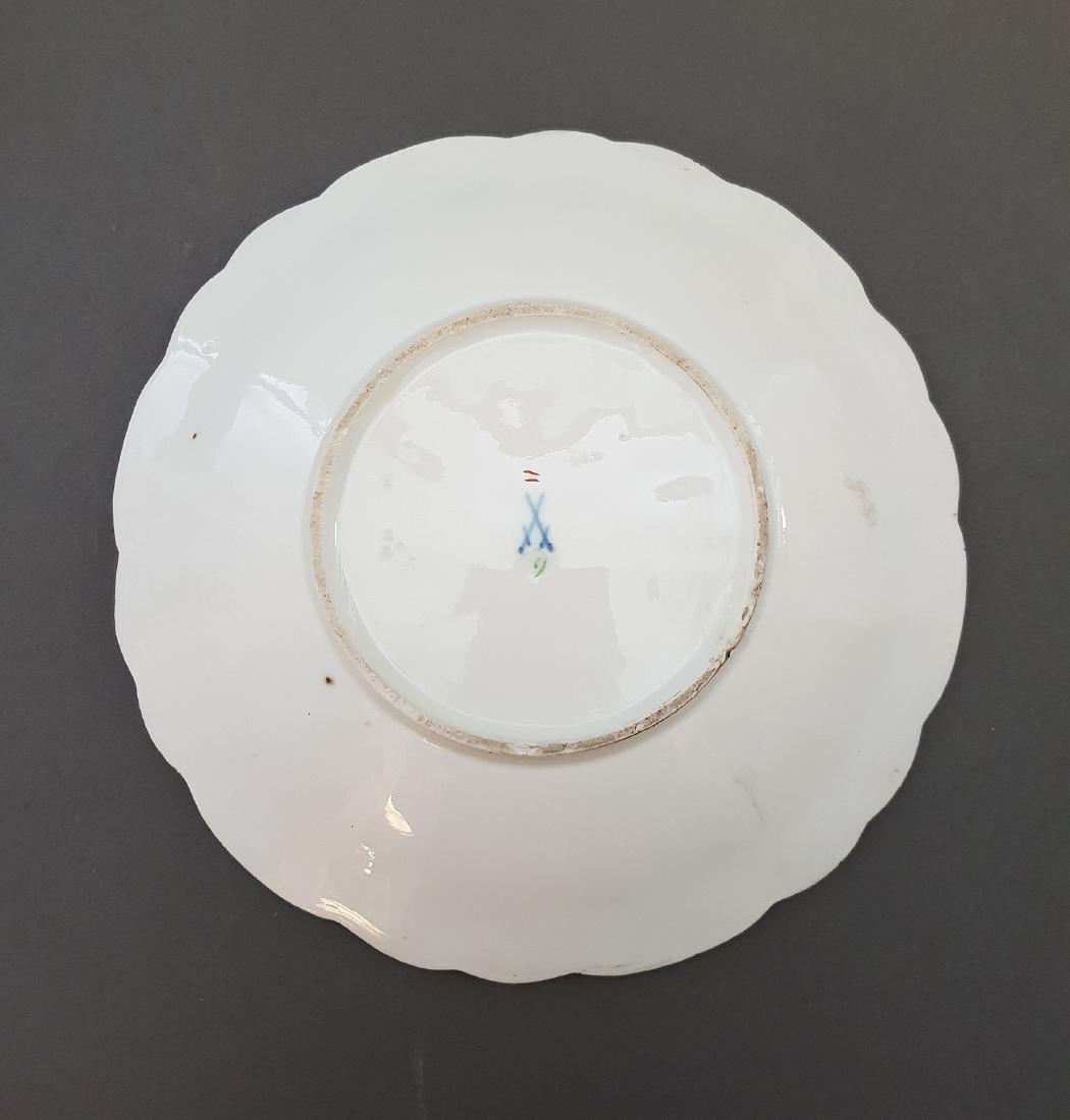 19th Century German Meissen Gilt Porcelain Plate - 2