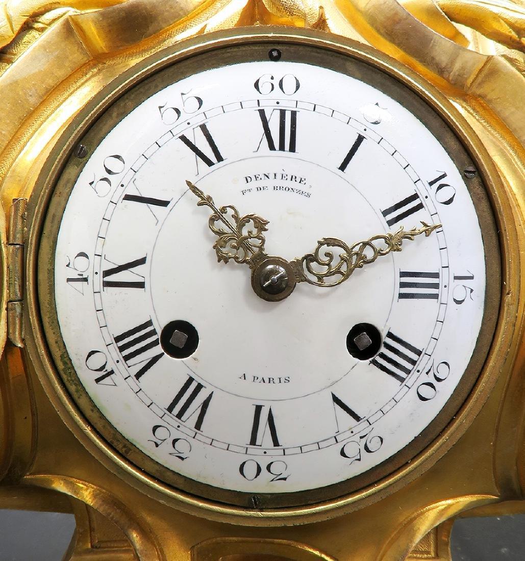 Monumental French Figural Bronze Clock Set - 5