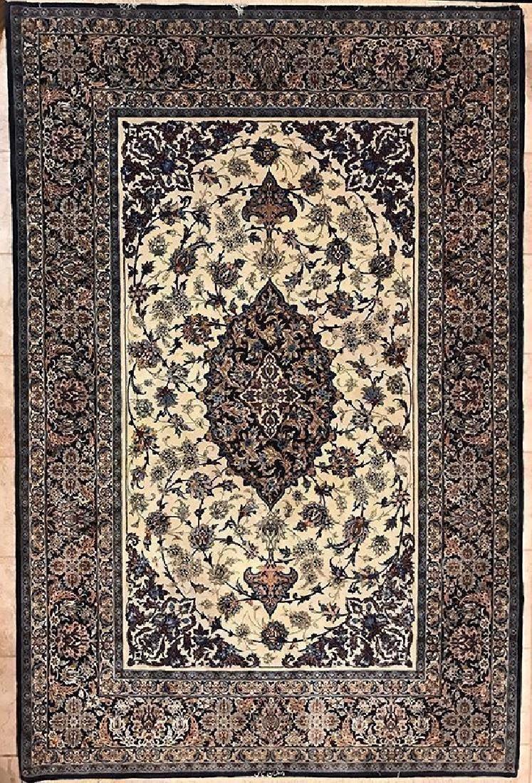 Persian Hand Made Isfahan Rug (Signed Nael)