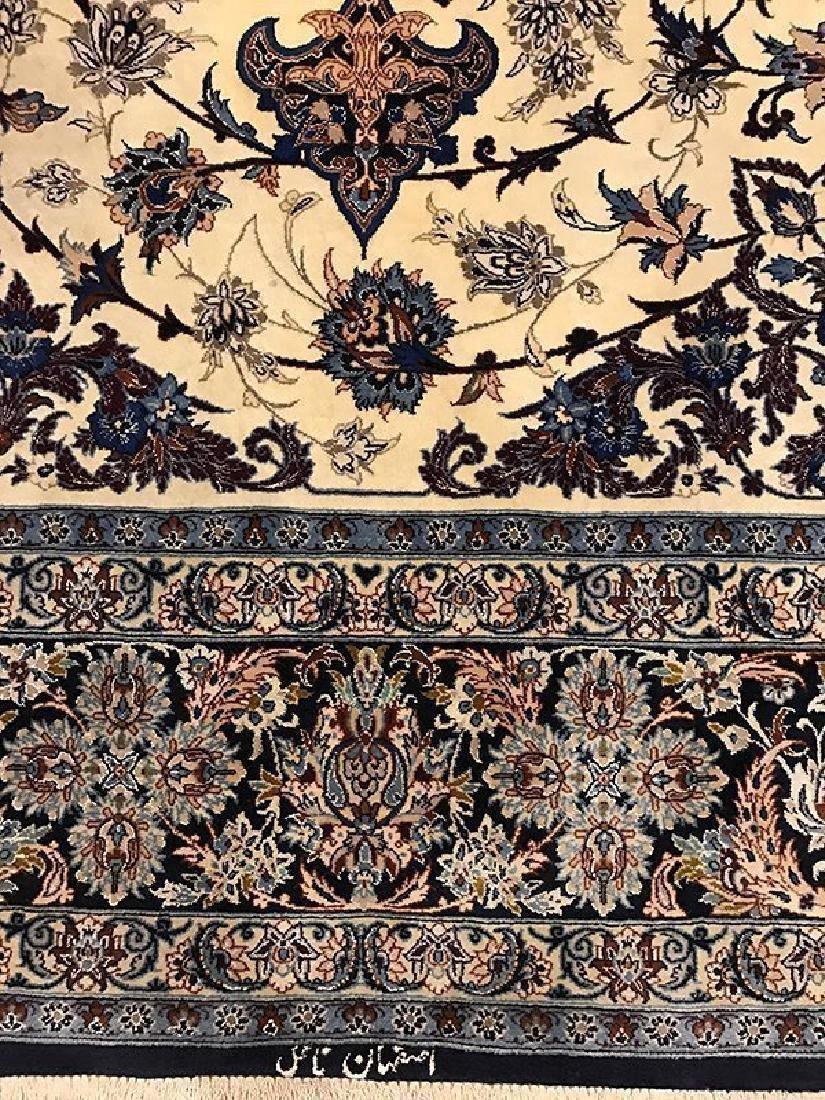 Persian Hand Made Isfahan Rug (Signed Nael) - 2