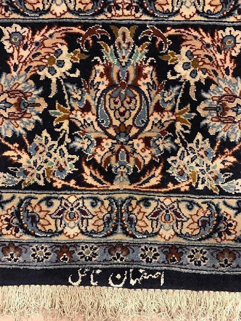 Persian Hand Made Isfahan Rug (Signed Nael) - 3
