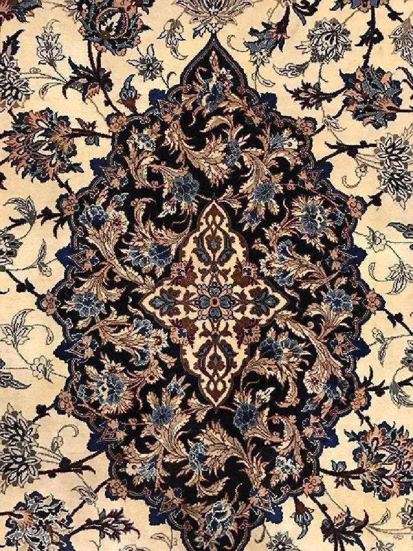 Persian Hand Made Isfahan Rug (Signed Nael) - 4
