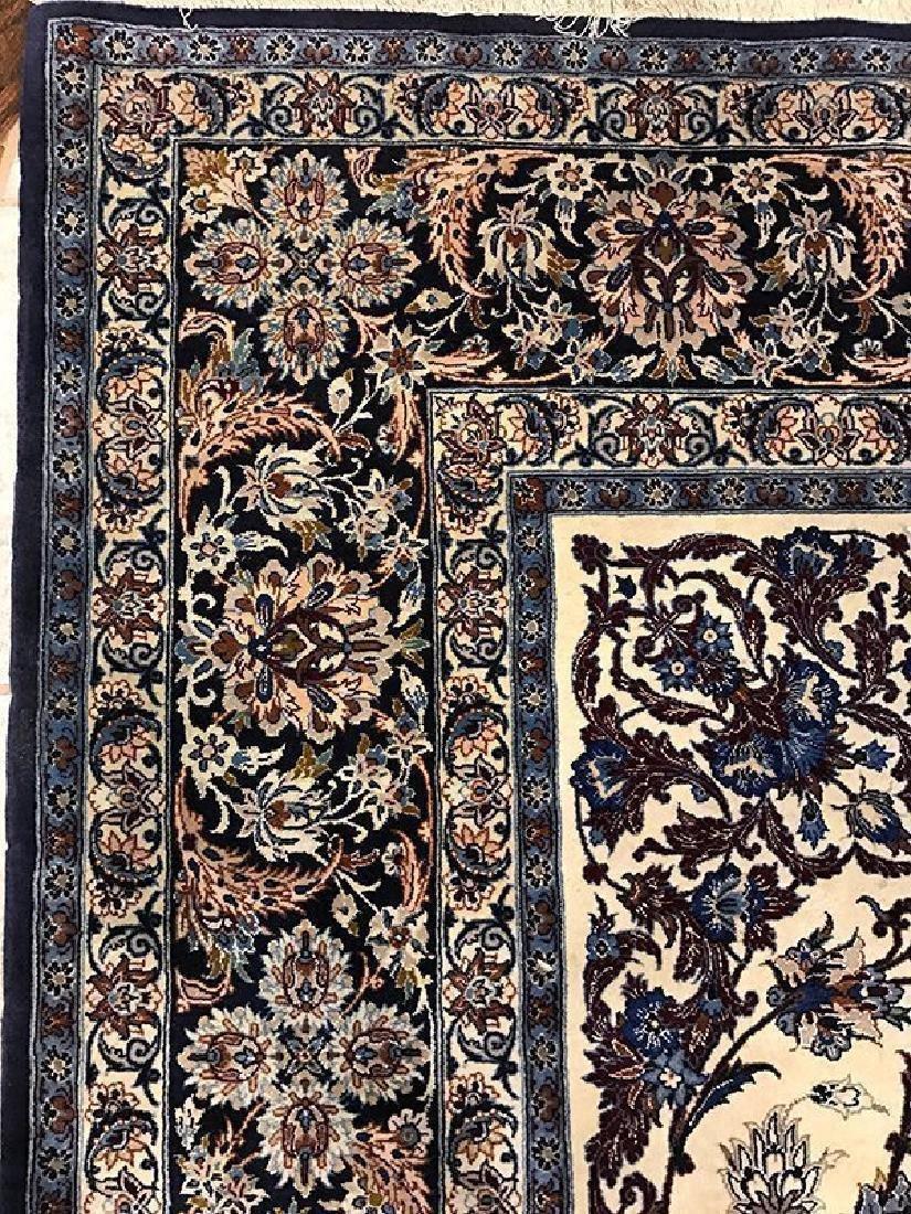 Persian Hand Made Isfahan Rug (Signed Nael) - 5